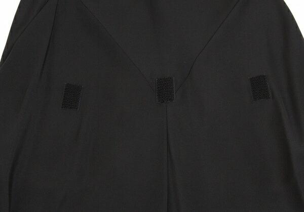 ヨウジヤマモト ファムYohji Yamamoto FEMME シルクマジックテープ留め変形ワンピース 黒1