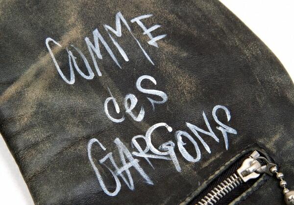 コムデギャルソン×ルイスレザーCOMME des GARCONS×Lewis Leathers ライトニング 青山限定 ライダースジャケット 黒赤36