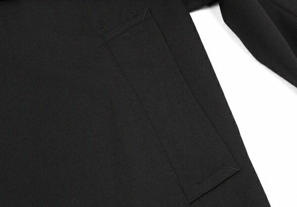 ヨウジヤマモト プールオムYohji Yamamoto POUR HOMME ウールギャバローブコート 黒2