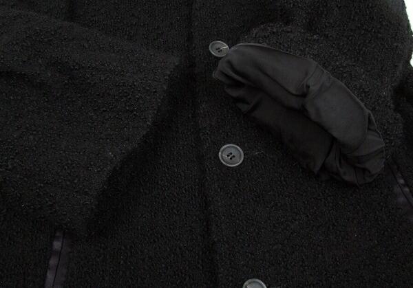 ジュンヤワタナベ コムデギャルソンJUNYA WATANABE COMME des GARCONS ループツイードウールコート 黒M