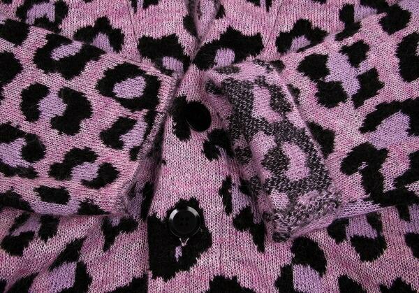 ヨウジヤマモト プールオムYohji Yamamoto POUR HOMME レオパードニットローブコート 杢ピンク黒紫3