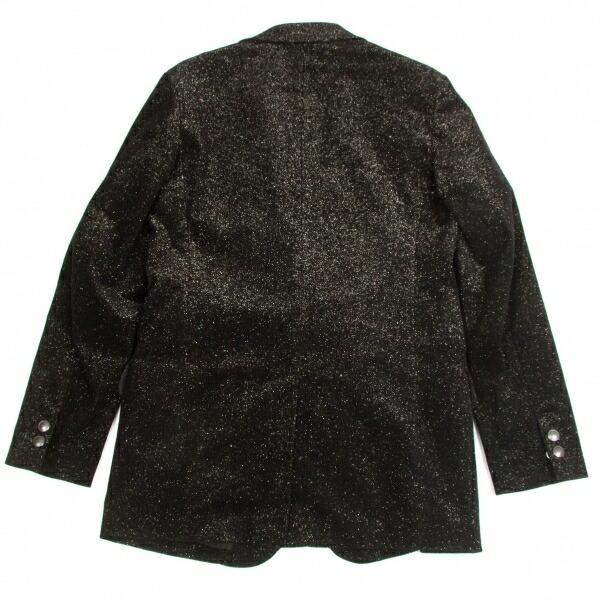 ヨウジヤマモト プールオムYohji Yamamoto POUR HOMME ラメ糸コーデュロイジャケット 黒ゴールドラメ3