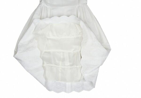 フォクシーブティック FOXEY BOUTIQUE  裾刺繍ノースリーブワンピース 白40