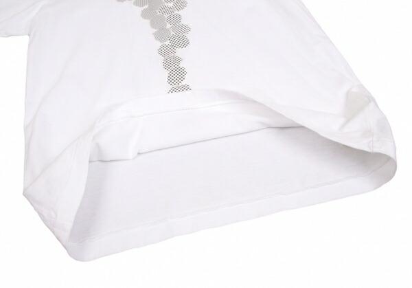 コムコム コムデギャルソンCOMME des GARCONS チェック貼り付けTシャツ 白L
