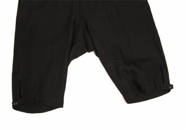 ヨウジヤマモト プールオムYohji Yamamoto POUR HOMME リネン裾ボタン留めショーツ 黒3