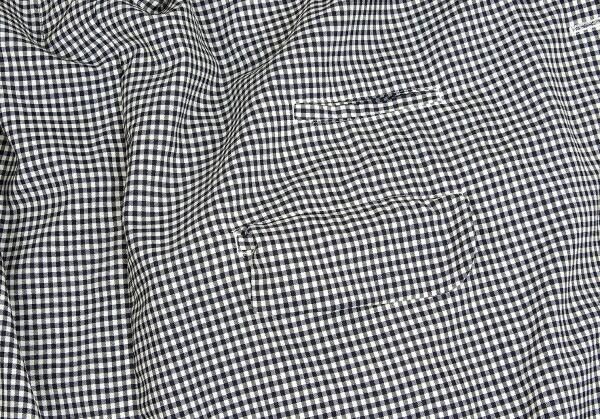 新品!コムデギャルソン オムプリュスCOMME des GARCONS HOMME PLUS カーブ切替ギンガムチェックジャケット 白紺黒他M