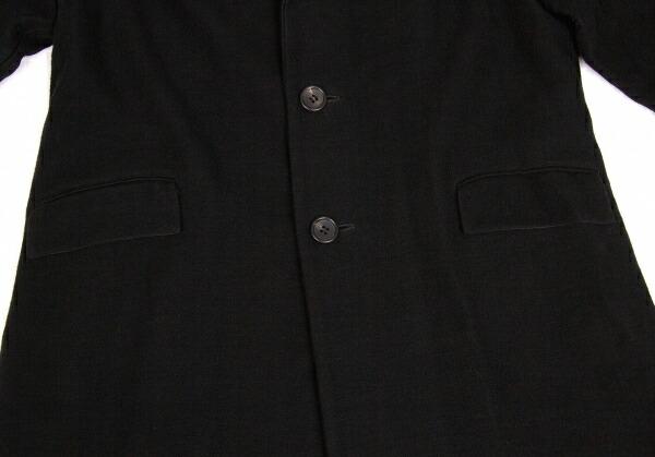 ヨウジヤマモトノアール Yohji Yamamoto NOIR ウールチェスターコート 黒2