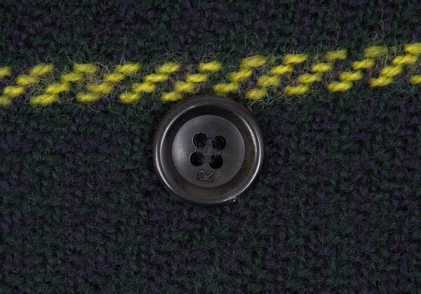 45rpm& ウールナイロンチェックピーコート 緑2
