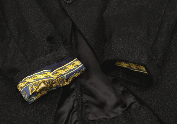 コムデギャルソン オムプリュスCOMME des GARCONS HOMME PLUS ヴィンテージ裏地デカダンスジャケット 黒XS