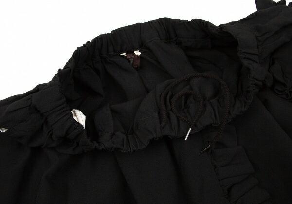 コムデギャルソンCOMME des GARCONS ポリ製品染めフリル装飾スカート 黒M