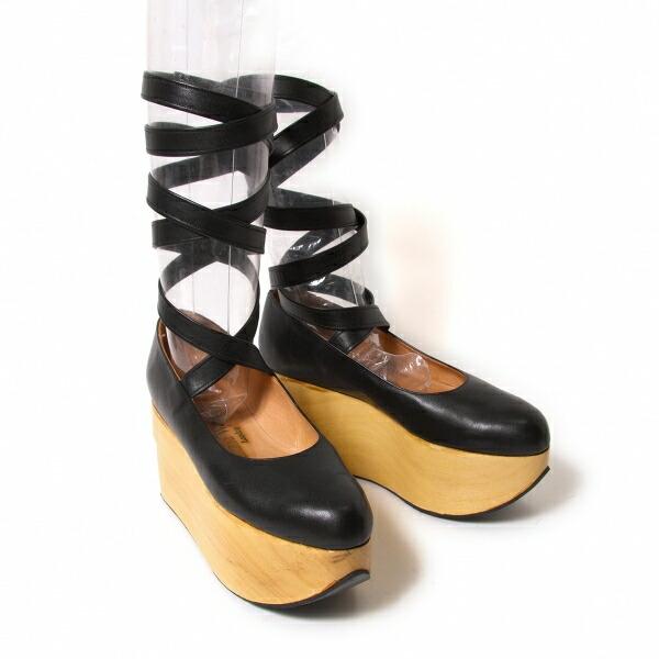 ヴィヴィアンウエストウッドVivienne Westwood ロッキンホースバレリーナ レザープラットフォームシューズ 黒UK5