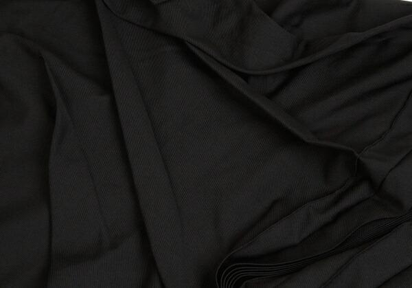 ヨウジヤマモト ファムYohji Yamamoto FEMME プリーツデザインポンチョトップス 黒2