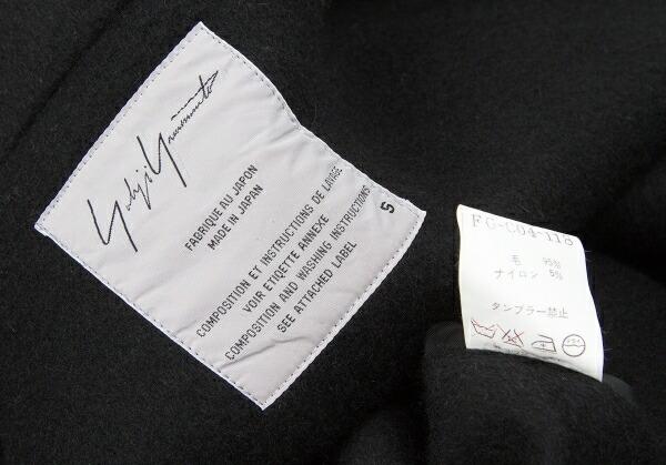 ヨウジヤマモト ファムYohji Yamamoto FEMME ウールナイロンボールボタンノースリーブコート 黒S