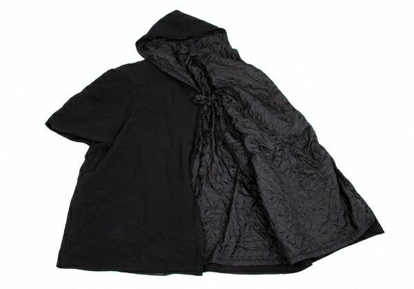 コムコム コムデギャルソンCOMME des GARCONS ポリ製品染め裏キルト変形コート 黒M位