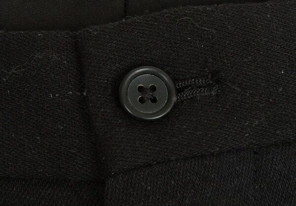 ヨウジヤマモト プールオムYohji Yamamoto POUR HOMME シルクデニムラップスカートパンツ 黒2