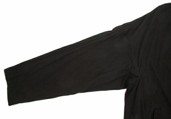 ヨウジヤマモト プールオムYohji Yamamoto POUR HOMME 中綿コットンロングコート 黒2