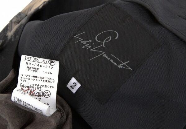 ヨウジヤマモト プールオム Yohji Yamamoto POUR HOMME 朝倉優佳ペイントテンセルサルエルパンツ 黒マルチ2