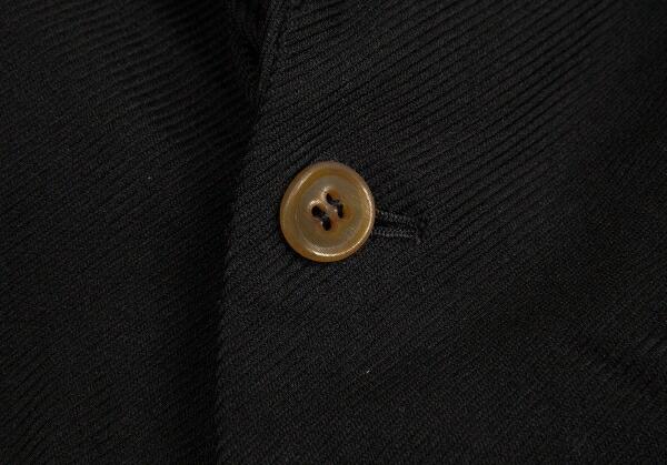 コムデギャルソン オムプリュスCOMME des GARCONS HOMME PLUS ポリ製品染めジップデザインジャケット 黒L