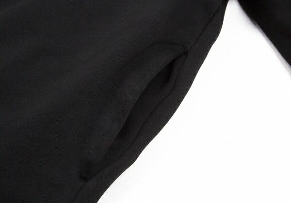 コムデギャルソンCOMME des GARCONS フリルラインポリAラインコート 黒S