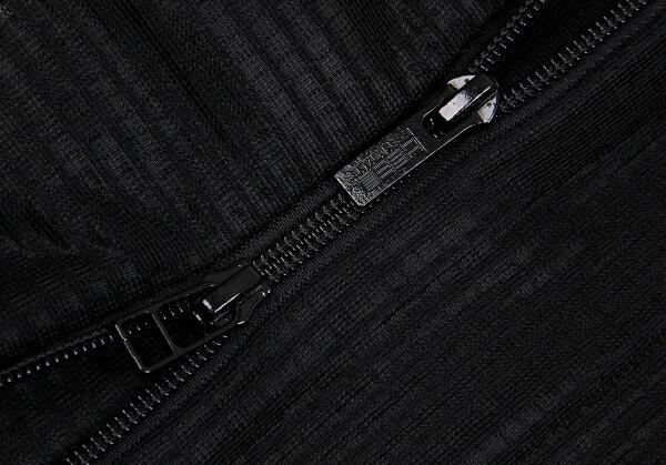 イッセイミヤケISSEY MIYAKE 132 5. ワッフル変形ジップセットアップ 黒3