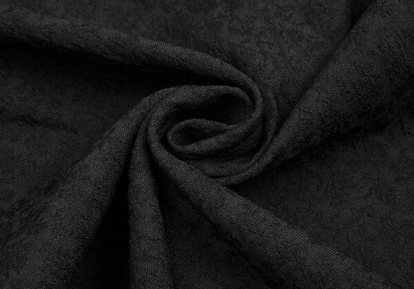 コムコム コムデギャルソンCOMME des GARCONS 製品染めジャガードビッグワンピース 黒S