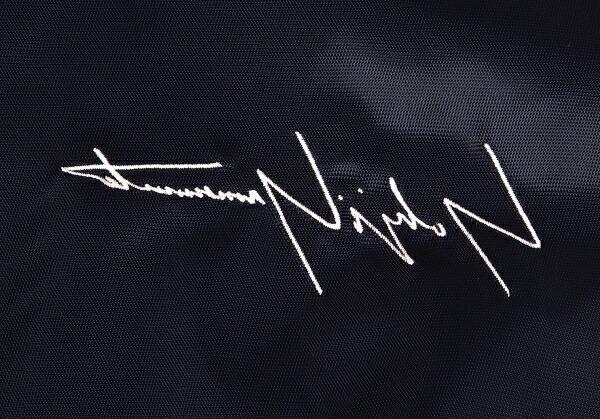 ヨウジヤマモト×ニューエラYohji Yamaoto × NEW ERA バックドローイングプリントバーシティジャケット 紺4