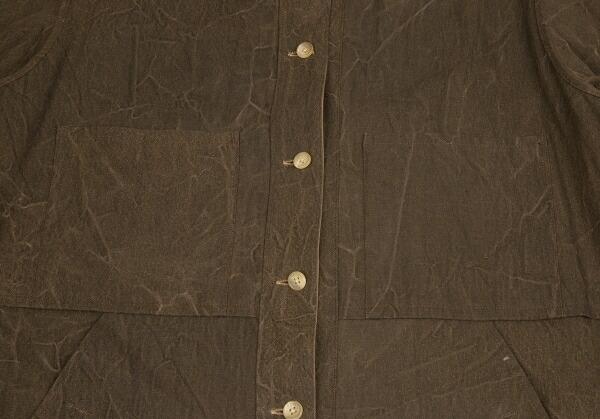 ヨウジヤマモト プールオムYohji Yamamoto POUR HOMME アジアの少年 ベルトデザインリバーシブルシャツジャケット 濃淡茶3