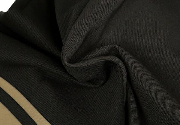 ヨウジヤマモト プールオムYohji Yamamoto POUR HOMME ジャージ袖切替ウールギャバチェスターコート グレー黒M