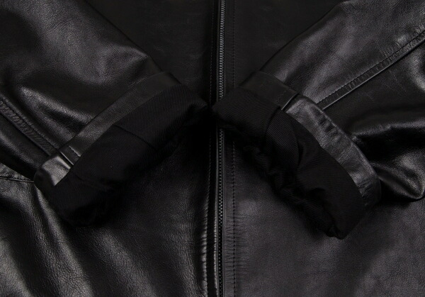 ヨウジヤマモト プールオムYohji Yamamoto POUR HOMME カウレザーririジップハーフコート 黒M