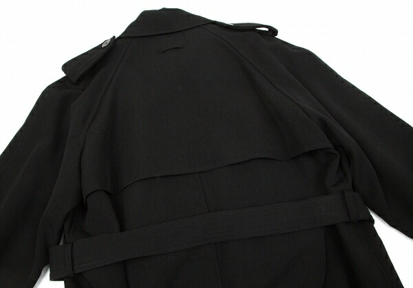 ジャンポールゴルチエ クラシックJean Paul GAULTIER CLASSIQUE ウールギャバトレンチコート 黒48