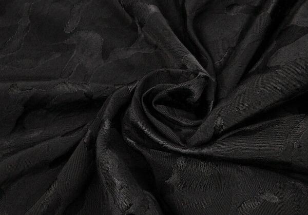 ヨウジヤマモト プールオムYohji Yamamoto POUR HOMME 迷彩織2タックコットンナイロンパンツ 黒3