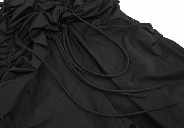 ヨウジヤマモト ファムYohji Yamamoto FEMME シャーリングギャザーボリュームコンビネゾン 黒M位