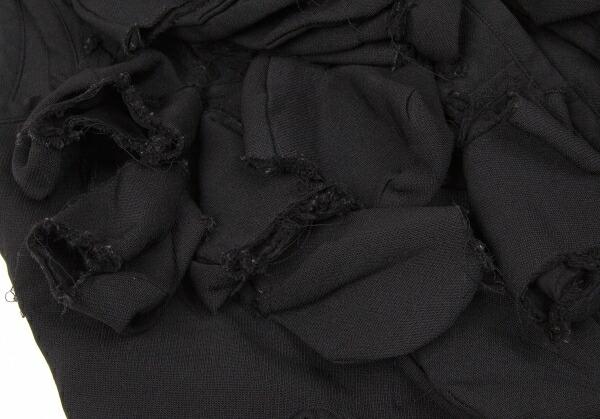 コムデギャルソンCOMME des GARCONS ポリ製品染めモチーフ装飾ライナーコート 黒XS