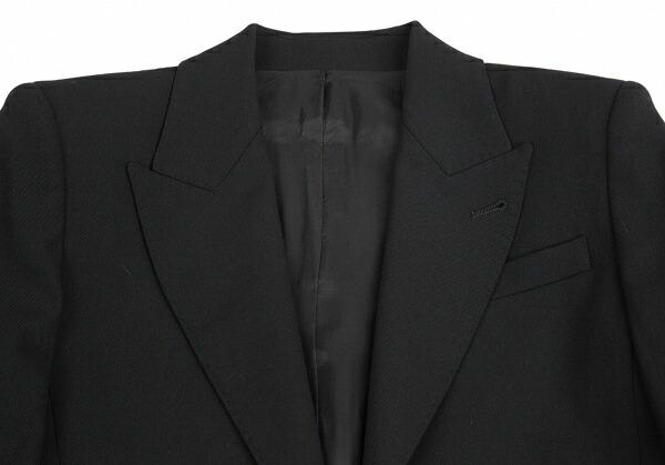 ジャンポールゴルチエ ファムJean Paul GAULTIER FEMME ロングストールデザインウールギャバジャケット 黒40