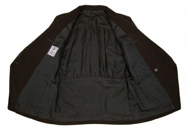 イッセイミヤケ メンISSEY MIYAKE MEN ギャザーデザインセットアップスーツ 濃茶M/ XL