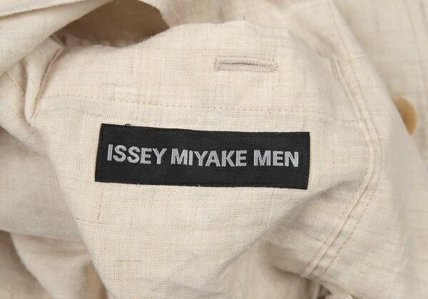 イッセイミヤケ メンISSEY MIYAKE MEN リネンヘンプスラブセットアップスーツ 生成り2
