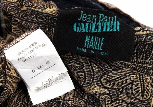 ジャンポールゴルチエ マイユJean Paul GAULTIER MAILLE ニット切り替えパワーネットカットソー 黒ベージュ他48