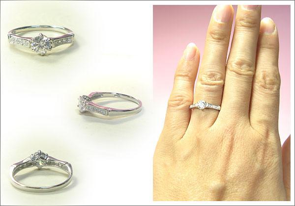 ダイヤモンドリング 18金 婚約指輪  エンゲージリング