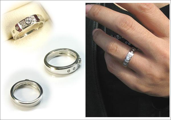 ダイヤモンドリング・K18ゴールド・シンプル・指輪