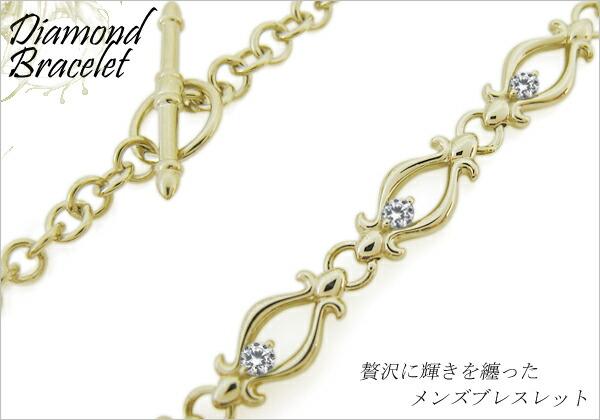 ダイヤモンド ブレスレット メンズ