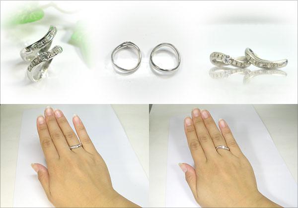 結婚指輪・プラチナ・ダイヤモンド・ペアリング・マリッジリング