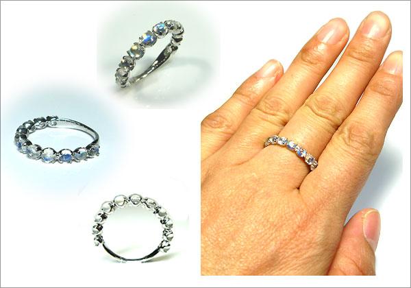 プラチナ 指輪 ロイヤルブルームーンストーン
