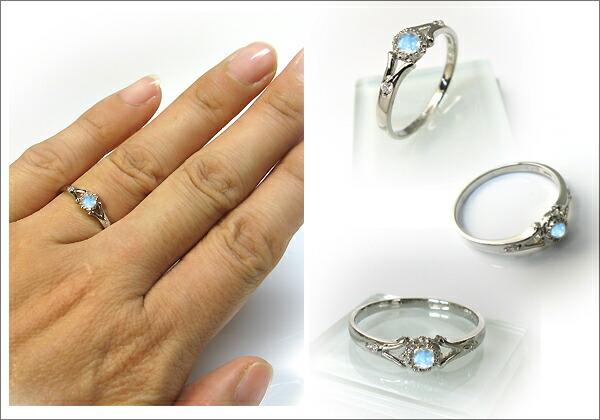 婚約指輪・プラチナ(pt900)・リング・ロイヤルブルームーンストーン・エンゲージリング