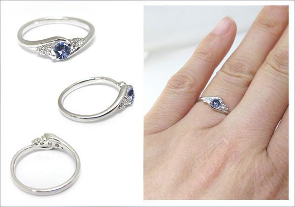 婚約指輪:タンザナイト:リング:大粒:エンゲージリング