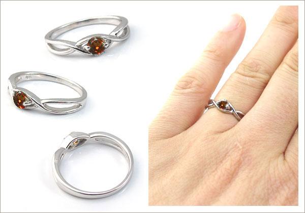 婚約指輪:ガーネット:リング:大粒:エンゲージリング