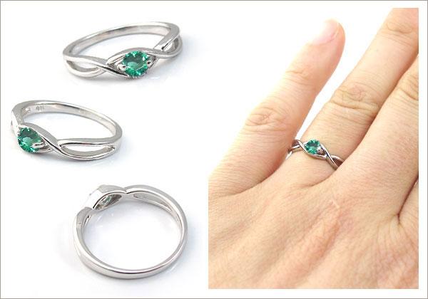 婚約指輪:エメラルド:リング:大粒:エンゲージリング