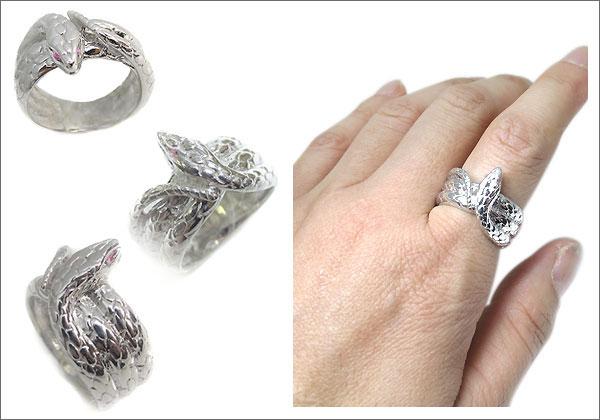 シルバー ヘビ 指輪