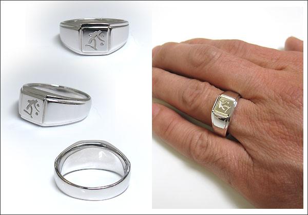 梵字 印台 指輪