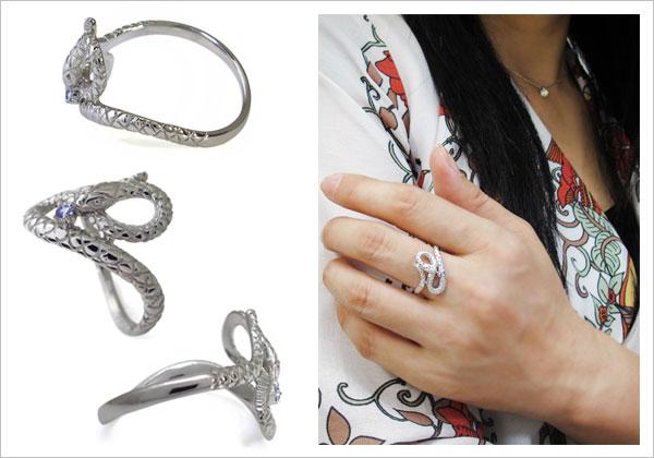ダイヤモンド,ヘビ,指輪