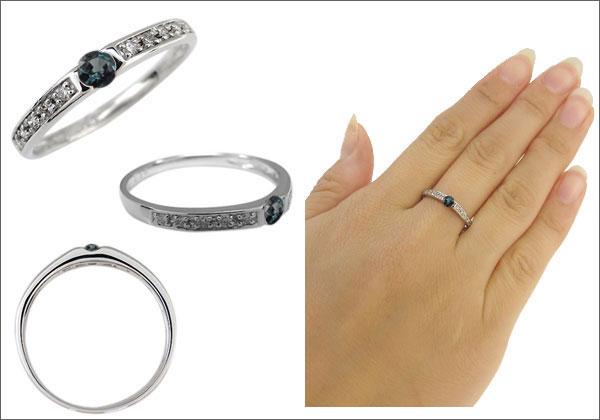 アレキサンドライト ダイヤモンド 指輪